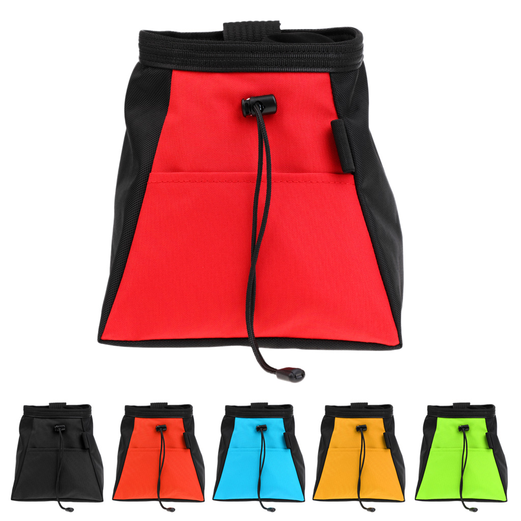 Rock Climbing Bouldering Weightlifting Chalk Storage Bag Bucket Pouch for Camping Caving Surfing Kayak Outdoor Sports Accessory