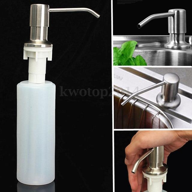 Delicieux 1PC 300 ML Kitchen Tools Bathroom Sink Soap Dispenser Bottle Copper Plastic  Bottle Hot Sale