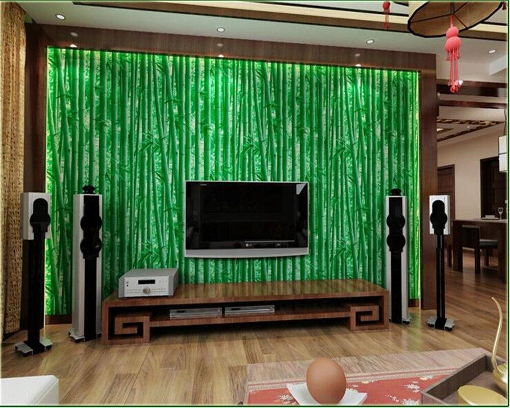 Beibehang 3d Naturel Simulation Papier Peint En Bambou Chinois Cran
