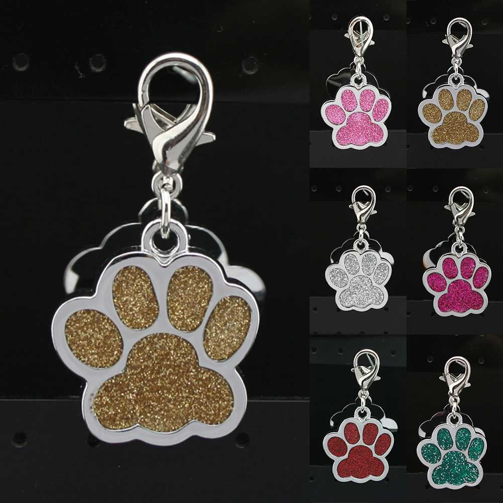Pet Paw Footprint Keychain Cute Animal Dog Cat Love Tag Pendant Key Chain For Women Girls Bag Jewelry Key Hoop