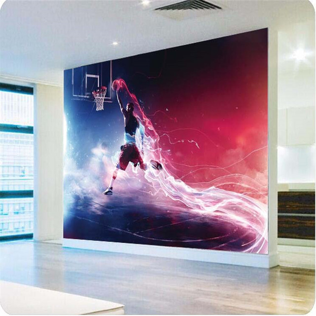 3d Wallpaper Fast And Furious Dunk Basketball Art Gallery Mural