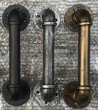 """1 יחידות L: 30 ס""""מ רטרו בר קפה מוסיקה מועדון KTV ידיות של דלתות DIY תעשייתי צינור ריהוט שולחן Feets רגל בסיס"""
