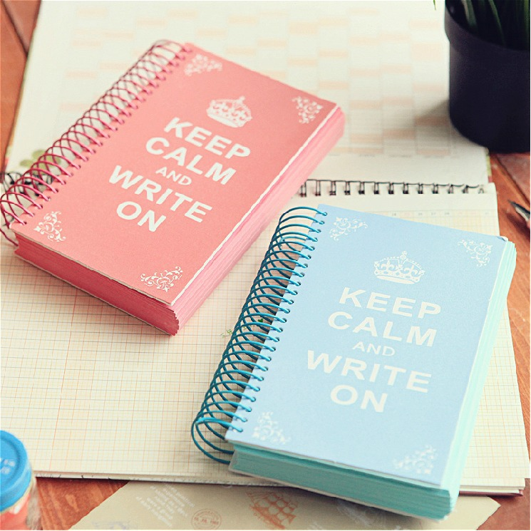Keep Calm Cute Journal Diary Coil Bound Lined Any Year Planner Pocke Notebook Agenda Notepad