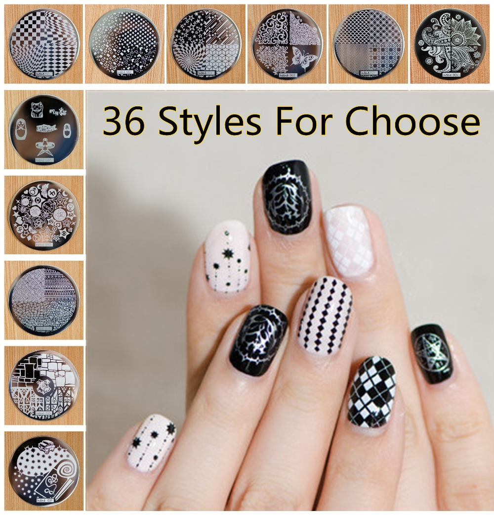 1 peça colméia flor etc hehe 1 – 36 placa Stamper Nail Art stamping, 36 Manicure modelo para escolher