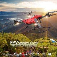 Gorąca Sprzedaż Składany FPV Quadcopter Drone Z Kamery Wifi Telefon selfie sterowania rc dron helikopter drony mini vs jjrc h37 Drone