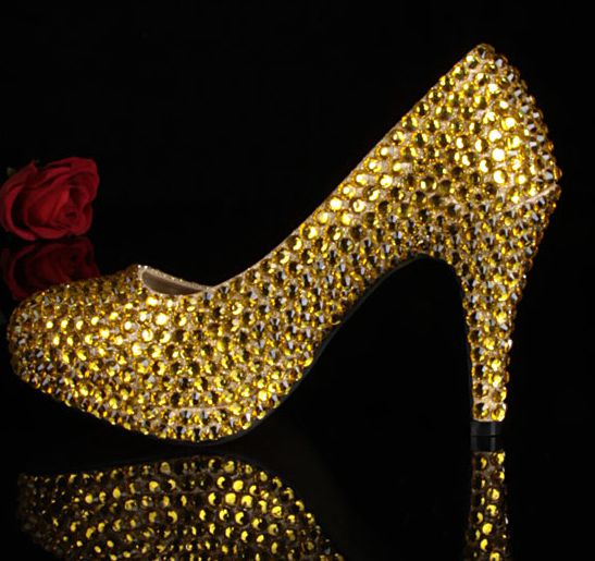 12cm heeled fashion rhinestones party pumps shoes for woman TG339 blue yellow red handmade platforms bridal wedding shoes