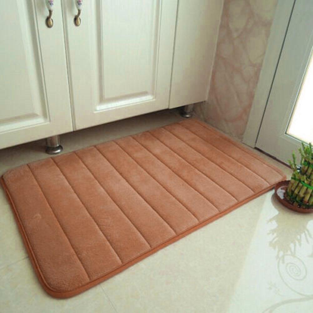 Khaki 1x nuovo tessuto in velluto memory foam bath mats bagno