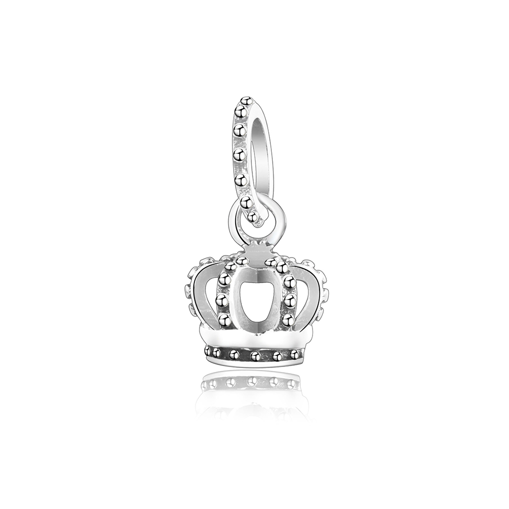 Mini Hollow Vintage Crown 925 Sterling Silver Charms Beads Fit Original Pandora Charm Bracelet For Women DIY Jewelry Making Gift