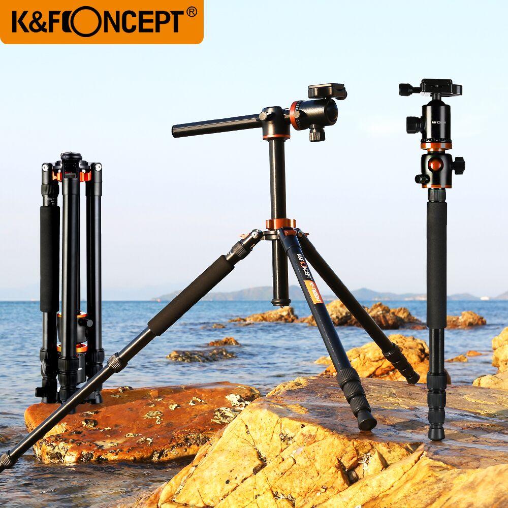 K & F CONCEPT Professionnel 4 section Alliage Trépied Pour Caméra Portable Monopode Trépied Pour Numérique/Vidéo Canon Nikon sony Caméra