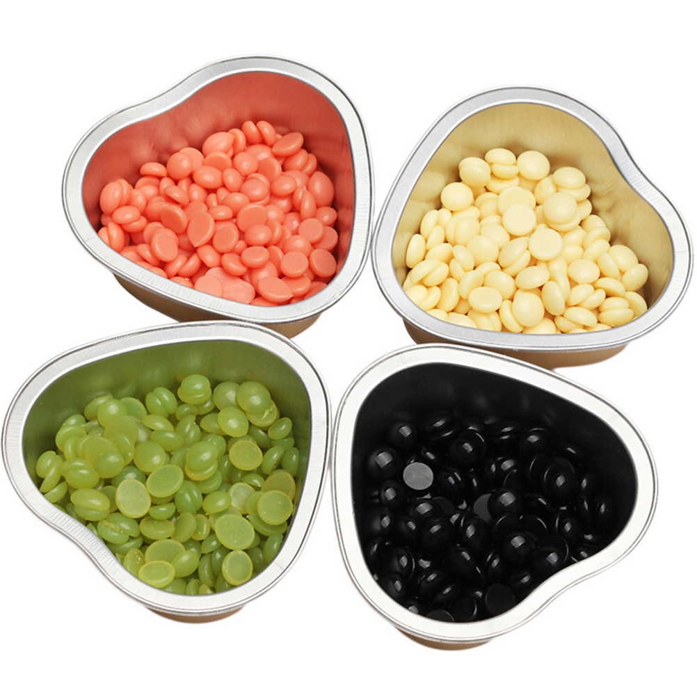 1pc Film Hard Wax Pellet Waxing Hair Removal Bean Bowl Heart Shape Melting Wax Bowl 8*8.8*3cm