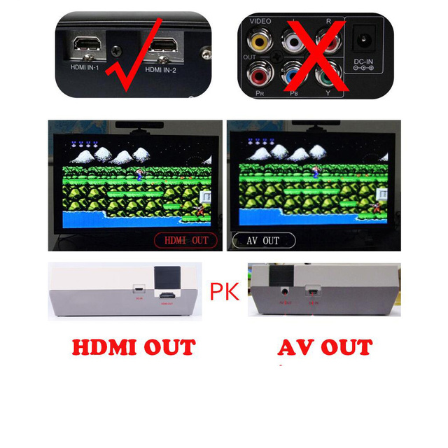 COOLBABY HDMI Mini TV Game Retro Console Support TV Handheld Game Player Video Game Console To TV With 600  Built-in Games