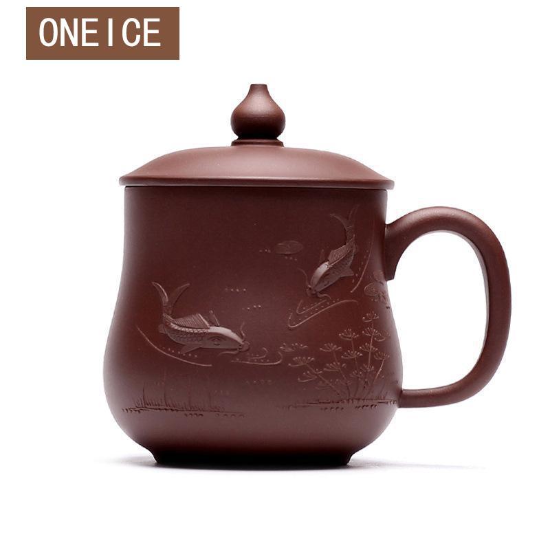 Китайский Исин тыква чашки рыбы весело Чай чашка ручной работы руды Чай кунг фу Gongfu Чай Cups кружка 510 мл