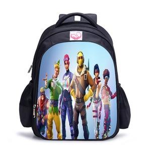 Image 4 - Famous Game battle royale Schoolbag Lovely Character Backpack for Children Cartoon Printing School Bags Kids Mochila Infantil