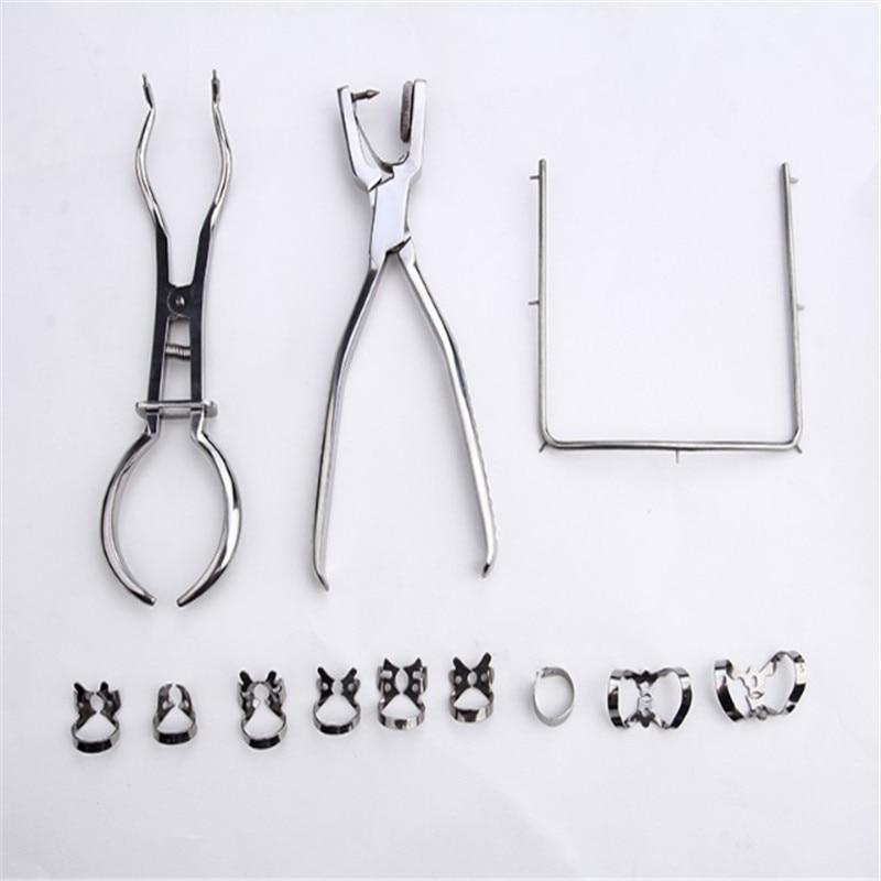A0089 1 set dentaire en caoutchouc barrage perforateur perforateur dents soins pinces dentiste laboratoire dispositif Instrument équipement