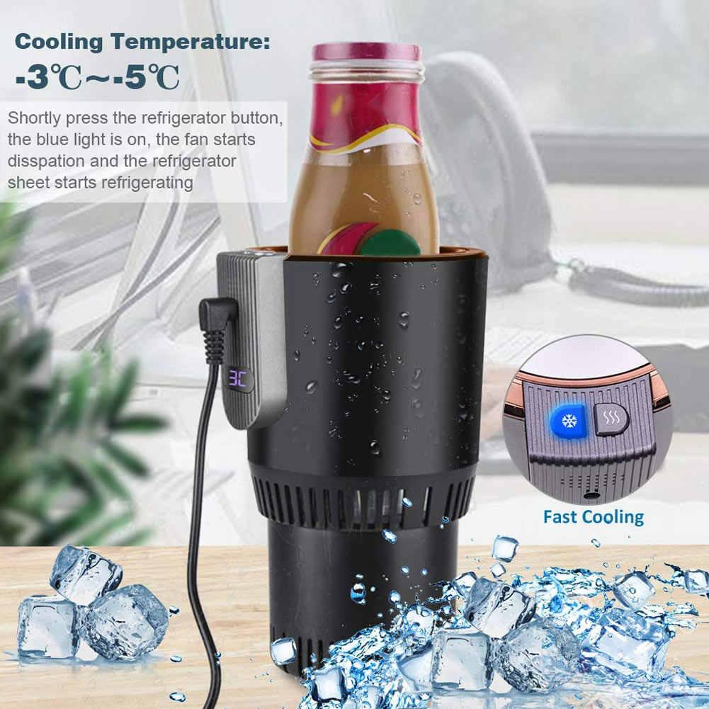 12V 3A Road Trip Smart Car Cup Warmer Caneca de Café Quente de Refrigeração Refrigerador Elétrico interior Do Carro titular bebida acessórios TD326