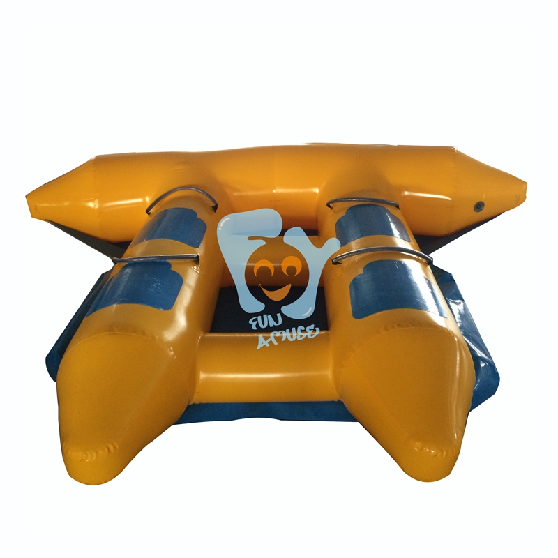 Fun Water Sports Game Toy Inflatable Flying Fish for Boat TowableTube Inflatable Flyfish Banana Boat Water Customize pvc inflatable boat fishing boat for water sports inflatable toys outdoor drifting boat in stock