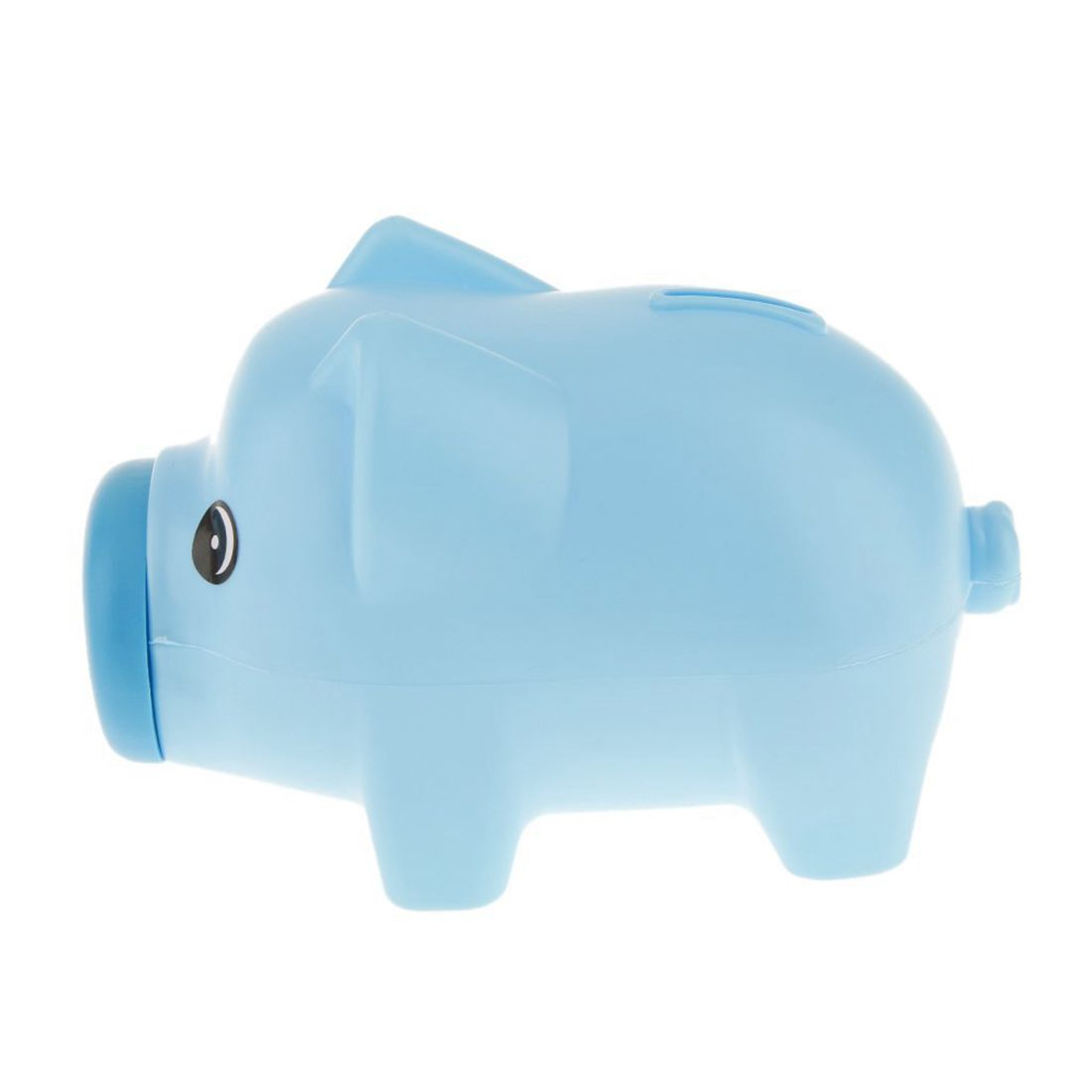 Plastic Blue Piggy Bank Animal Piggy Bank Treasury Saving Coin Coins Money Kids Children Gift