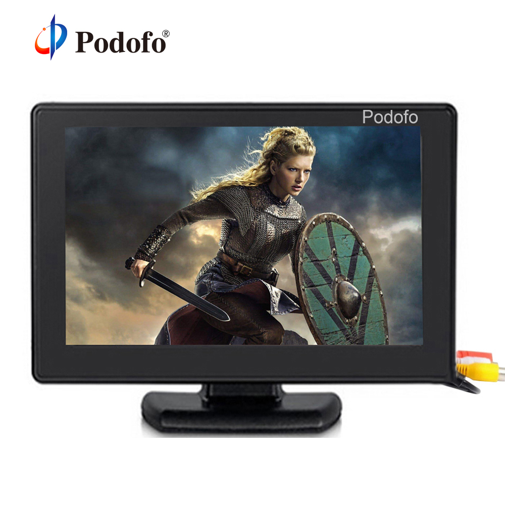 Podofo 4 3 Color TFT LCD 2 Channel Video Input Display Monitor Screen CCTV Security Surveillance