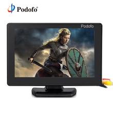 """Podofo 4.3 """"cor tft lcd 2 channel exibição de entrada de vídeo monitor tela cctv vigilância de segurança para dvd vcd monitor de segurança"""