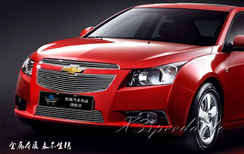 ФОТО For Chevrolet Cruze 2009-2014 Front Racing Grill Grille Protector Cover High Quality New Aluminum Alloy 3PCS