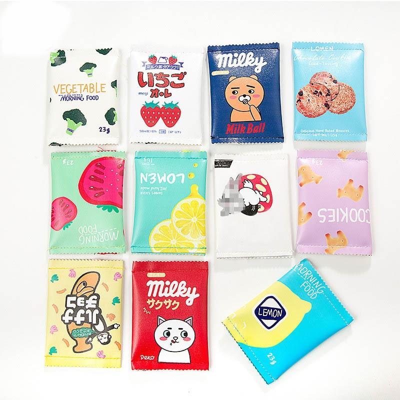 YIYOHI Multiple Styl Creative Candy Snacks Coin Purse Children PU Leather Zipper Change Purse Women Wallet Holder Mini Money Bag