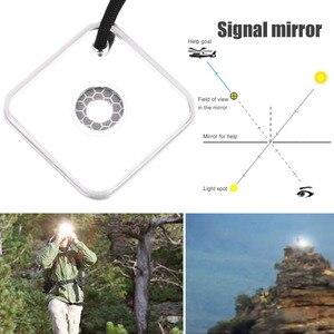 Image 5 - Notfall Überleben Spiegel Signal Pfeife Multifunktionale Outdoor Espejo Supervivencia Werkzeug Mit Targeting Funktion