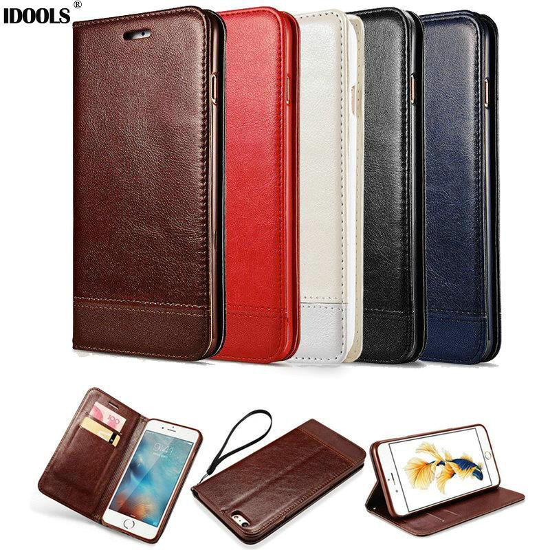 for iPhone 7 Case PU Leather Dirt Resistant Stand Wallet Flip Mobile Phone Cases for iPhone 7 Bgas Shell With Card Holder IDOOLS