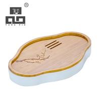 TANGPIN ceramic and bamboo tea trays tea board accessories chinese kung fu tea tray table