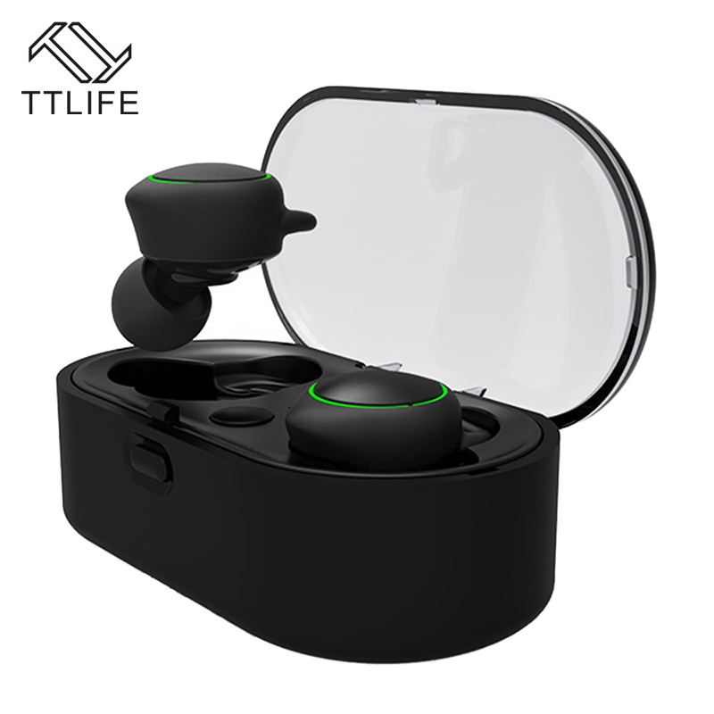 TTLIFE Mini Wireless Bluetooth Earbud New TWS Sport Handfree Earphone with Charging box Headphone with Mic For Phones Xiaomi hot sale ttlife smart bluetooth 4 1 earphone upgraded wireless sports headphone portable handfree headset with mic for phones
