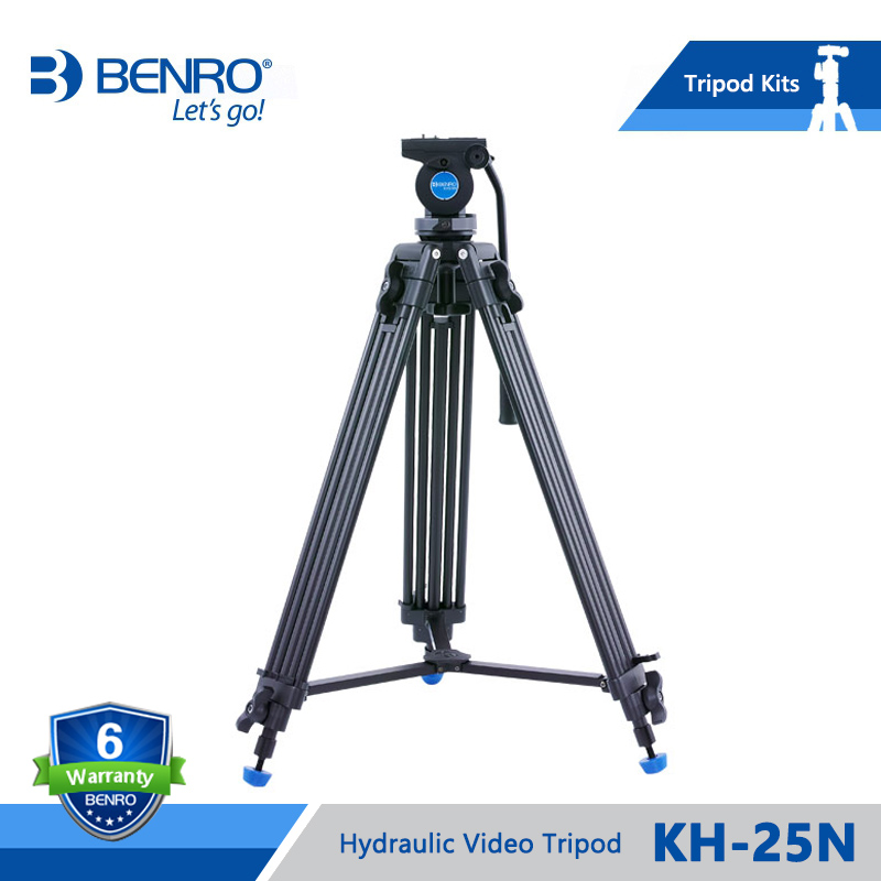 BENRO KH 25N KH25N Video Tripod Professional Magnesium Alloy Video Camera Tripod Hydraulic Head Video Tripod
