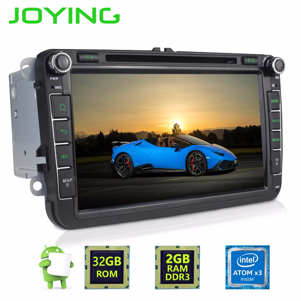 2GB 2 Din Android 6.0 Quad Core Car Radio Stereo for VW Skoda POLO GOLF PASSAT Superb CC with audio broadcasting DAB + Antenna