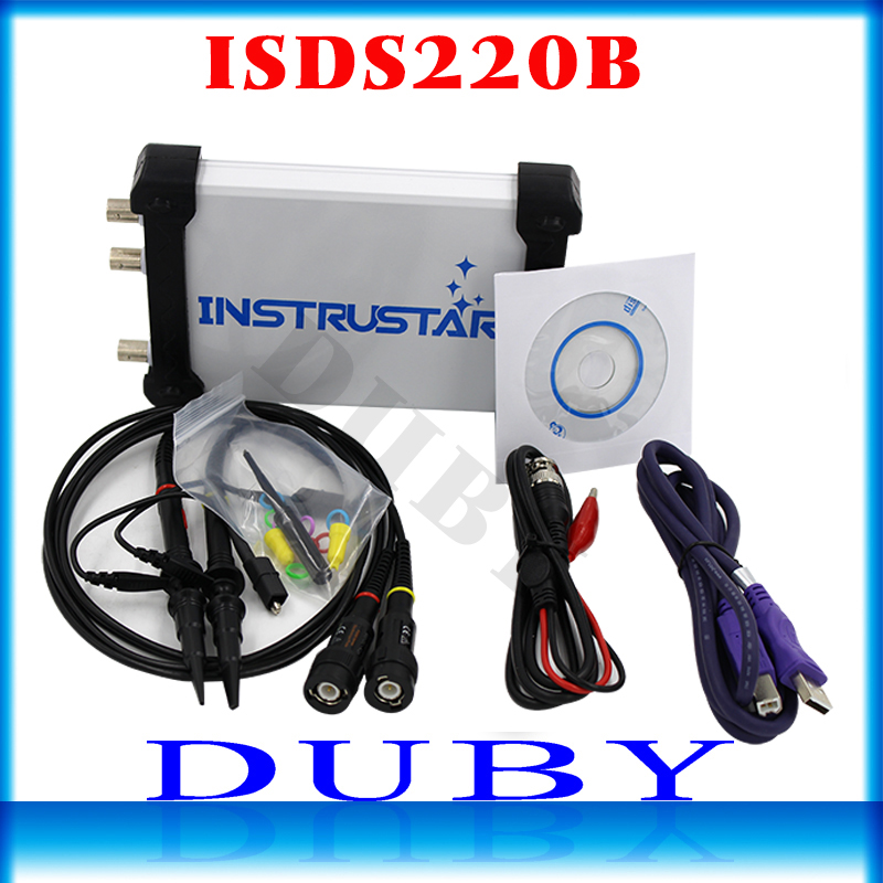 ISDS220B 4 en 1 multifuncional PC USB virtual osciloscopio Digital + analizador de espectro + DDS + generador de señal de barrido 60 M 200 MS/s