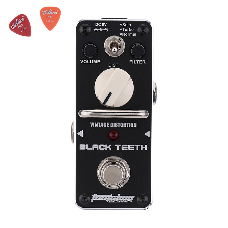 ABT-3 Black Teeth Vintage Distortion Guitar Effect Pedal Aroma Mini Size Pedals With True Bypass Guitar Accessories стоимость