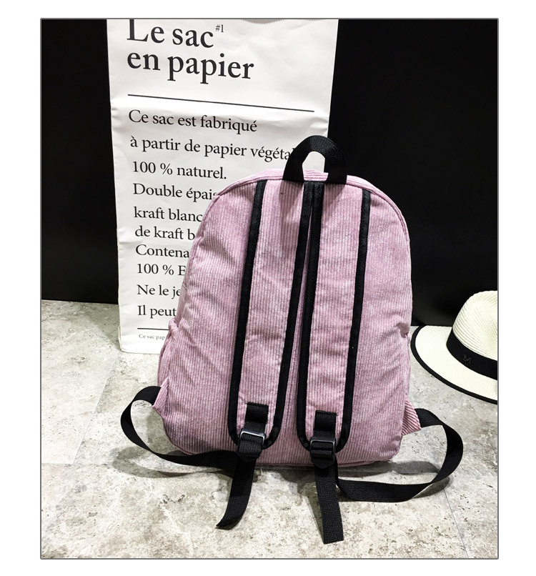HTB1ywzNKbSYBuNjSspfq6AZCpXaX Women Striped Corduroy Backpack Female Eco Simple Cloth Bag Large Capacity Vintage Travel Bags School Backpack for Teenage Girls
