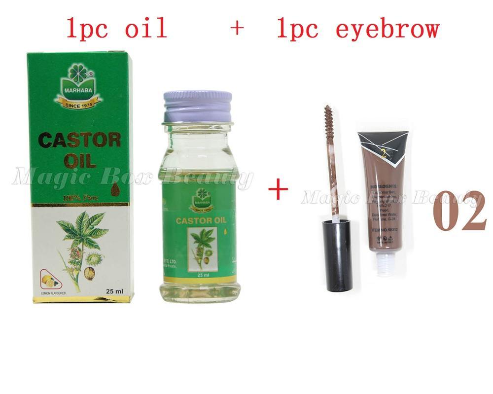 Online Shop 2 pcs/set Castor oil eyebrow enhancer 25ml Pakistan ...