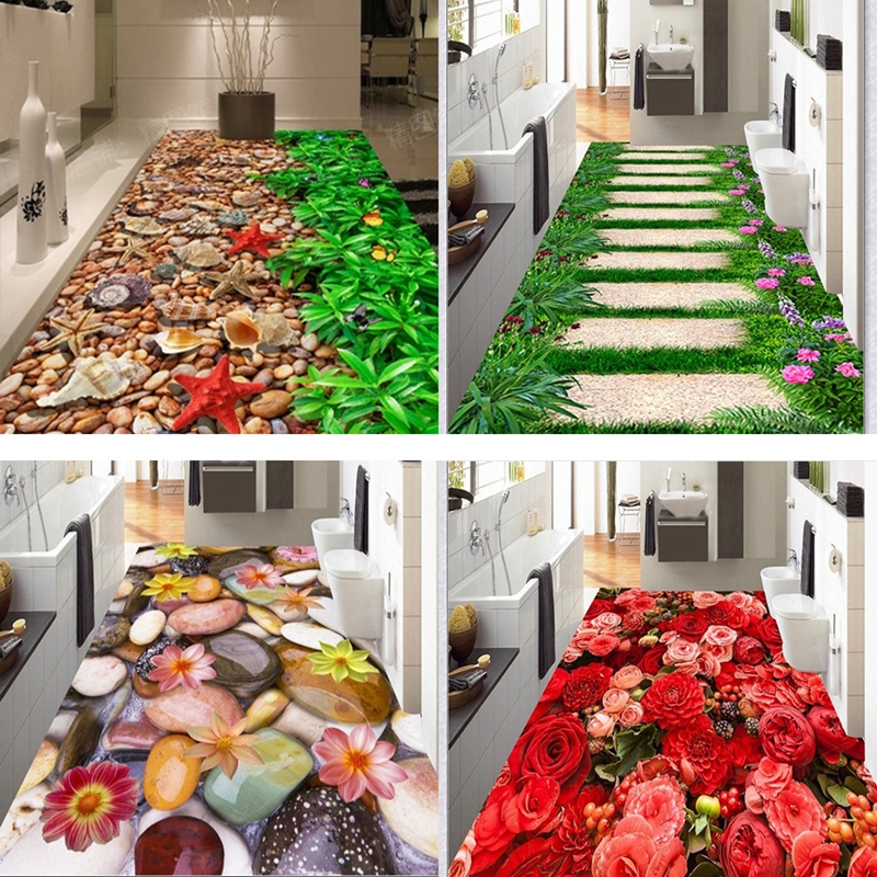 Creative 3D הדפסת גן פרח מסדרון שטיחים ושטיחים לחדר שינה סלון שטיח מטבח אמבטיה רצפה נגד חלקה מחצלות