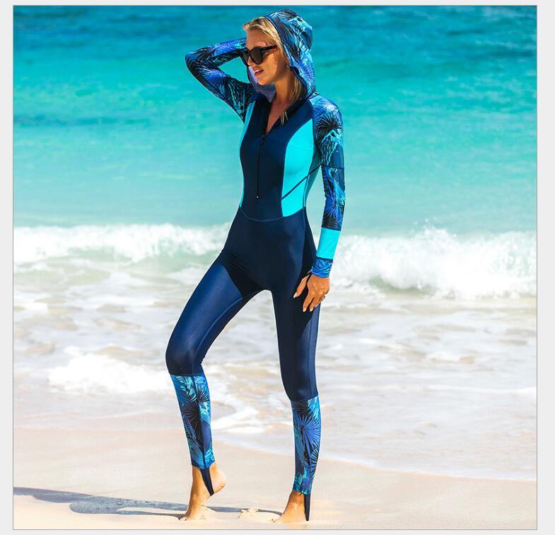 SBART Wetsuit Women Zipper Swimsuit Full Body Jumpsuits Diving suit Rash Guard Wetsuits for Swimming Surfing Sports Clothing sbart upf50 806 xuancai