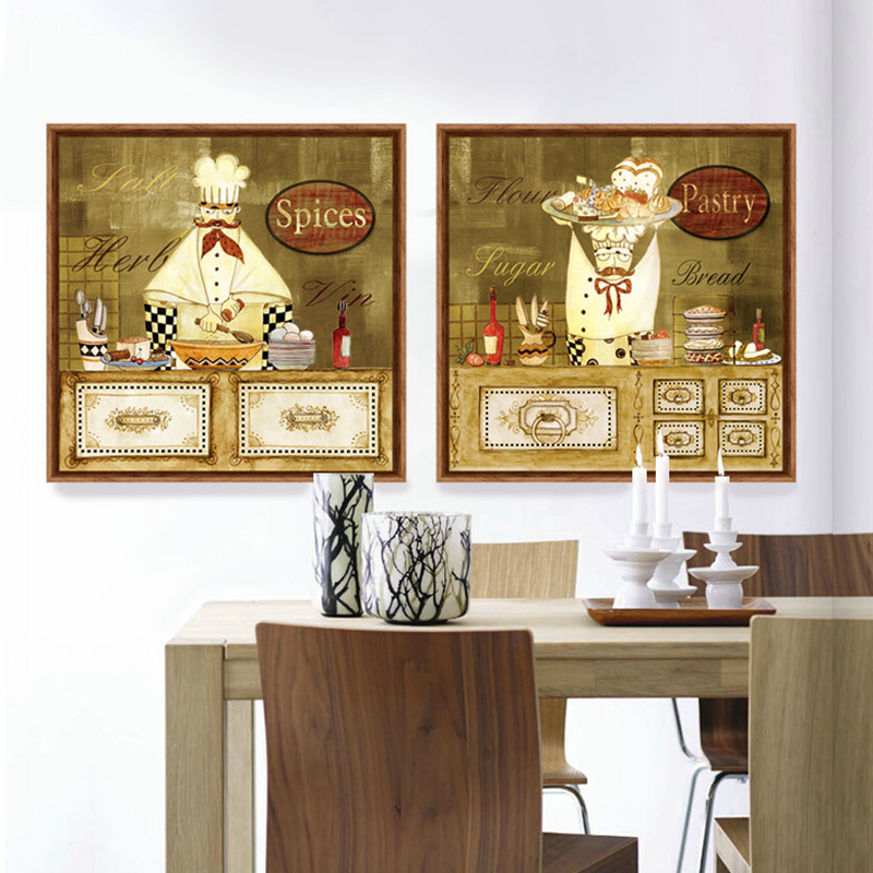 Genial Aliexpress.com : Buy Cartoon Humorous Chef Canvas Art Print Painting Kitchen  Cafe Decorative Pictures Cheap Modern Paintings Tableau Decoration Mural  From ...