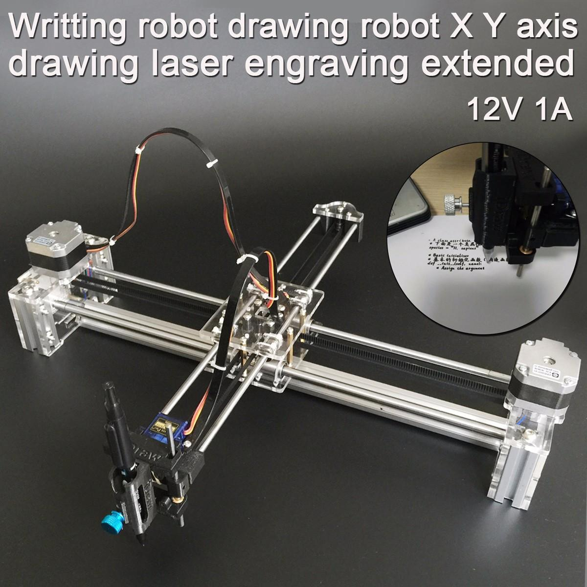 2 Axis Writing Drawing Robot 1A 12V X Y Axis Drawing Laser Engraving Extended Writing Robot Printer Machine