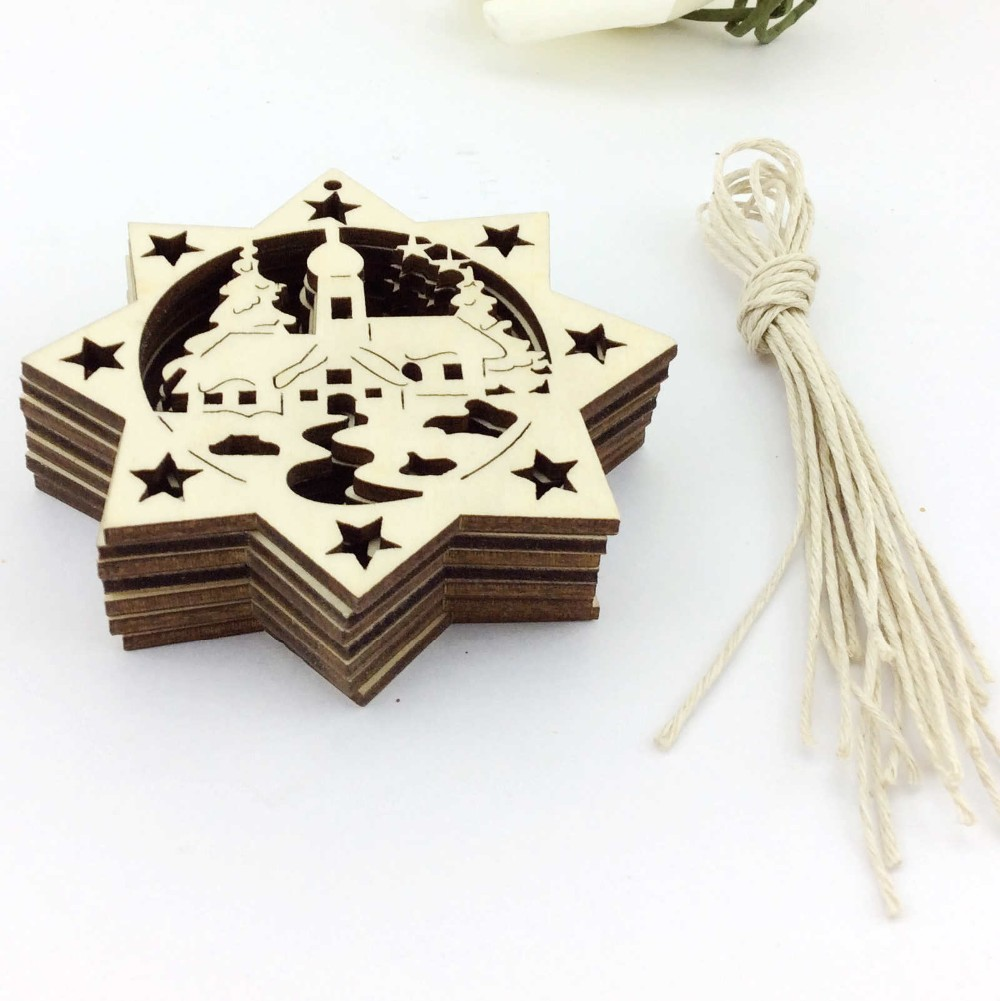 Small wooden christmas tree ornaments - Wooden Christmas Ornament Wholesale Made In China