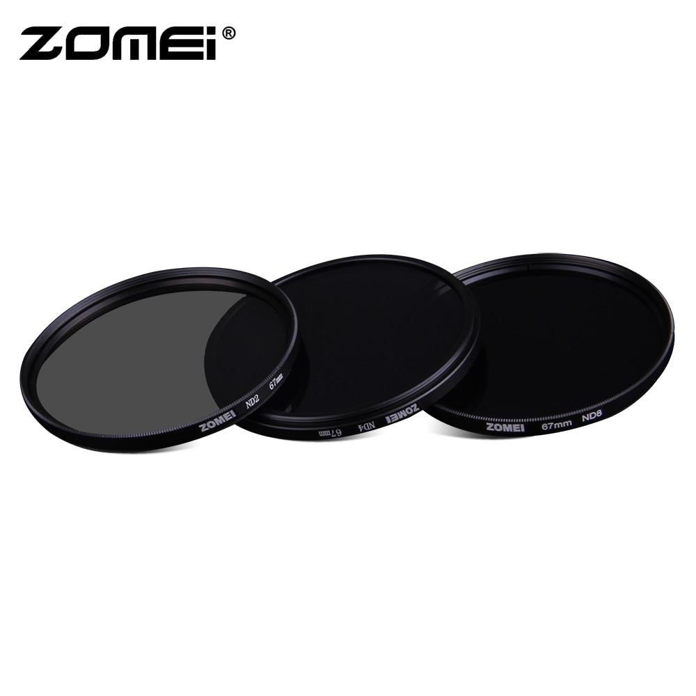 Zomei Neutral Density Camera ND Filter Set Kit 52mm 58mm 62mm 67mm 77mm 82mm ND2 ND4 ND8 For SLR DSLR Camera Lens Glass