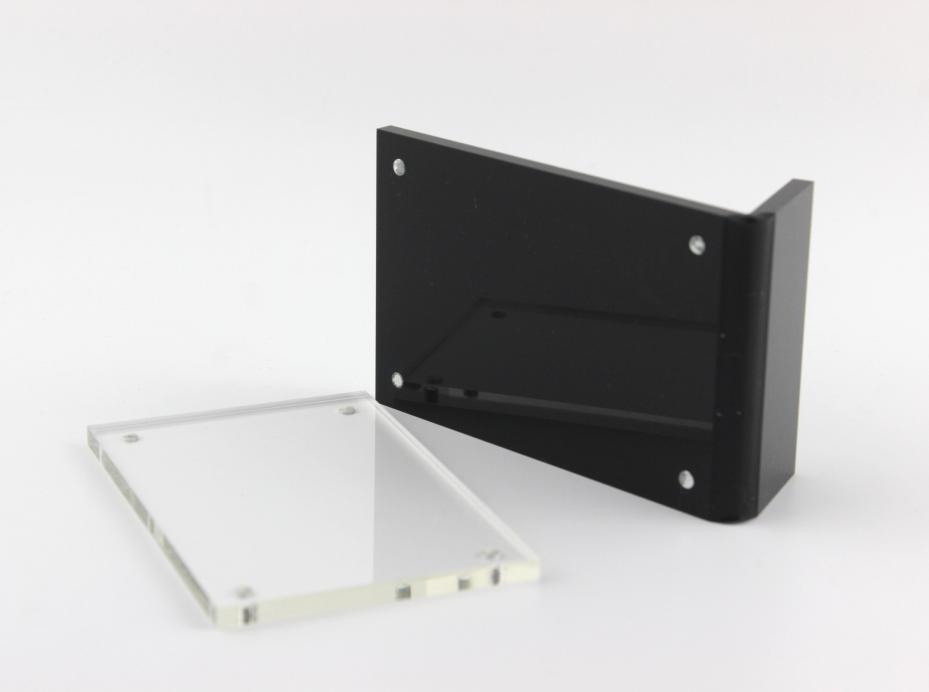 Desk Accessories & Organizer 6*9cm Upright Clear Acrylic Magnetic Label Holder Stand L Shape Poster Banner Menu List Frame Advertising Black Sign Display