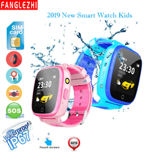 2019 New Smart Watch Kids Watch SmartWatches Phone With GPS SIM Card SOS Call Tracke Student Waterproof Watch Android PK Q90 Q50