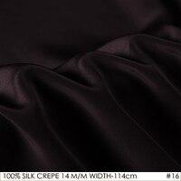 IPEK KREP DE BELKEMIĞI 114 cm genişliği 14 momme/100% Saf Dut Ipek Kumaş/Batik Boyama ve Düğün elbise Kumaş Derin Mor NO16