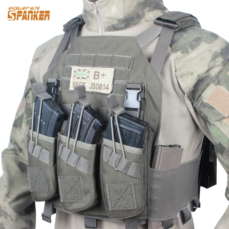 Tactical Modular Vest with AK 47 Rifle Triple Gun Magazine Pouch Military Hunting Vest Outdoor Equipment 47 folding fishing rod bag tactical duel rifle gun carry bag with shoulder strap outdoor fishing hunting gear accessory bag