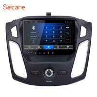 Seicane 9 дюймов 2DIN gps навигации HD сенсорный экран Android 6,0 Bluetooth Автомобильный мультимедийный плеер для Ford Focus с AUX 3g WI FI