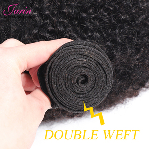 Image 4 - Afro Kinky Curly Hair Weave 1 2 3 6 9 Bundles Deal Remy Hair 100% Human Hair Extension 8 20 Inch Natural Color Jarin Hair Bulk
