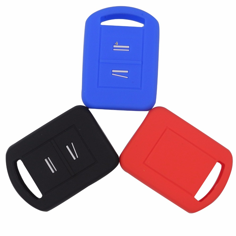 2 Buttons Remote Car Key Cover Case Silicone For Vauxhall Corsa Agila Meriva Car-Styling