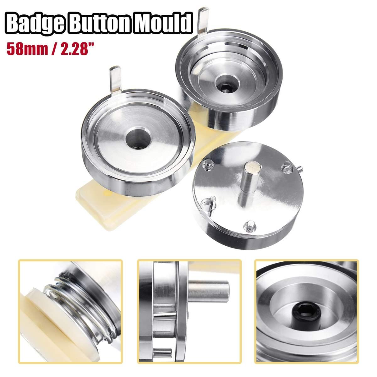 58mm Badge et bouton fabricant poinçon presse Machine ronde moule blanc plaque de base