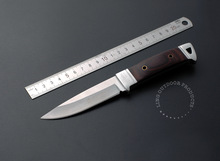 Free shipping 440C 55HRC stainless steel blade New Colour wooden  handle tactical fixed knife hunting camping outdoors knife